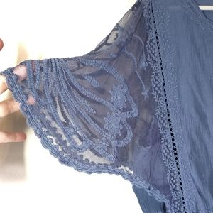 Lane Bryant Tops - LANE BRYANT Boho Embroidered Flutter Sleeve Top